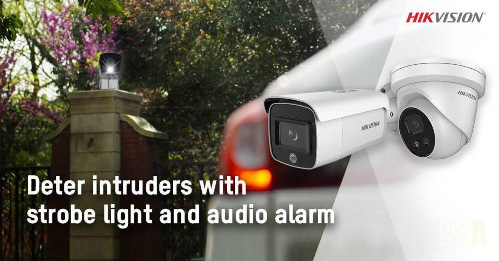 Camera IP AcuSense với báo động và ánh sáng nhấp nháy